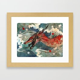 Dragon's Waves Framed Art Print