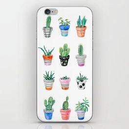 drawing cacti iPhone Skin