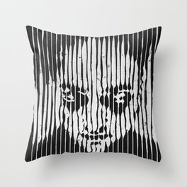 no casualities - b&w version Throw Pillow