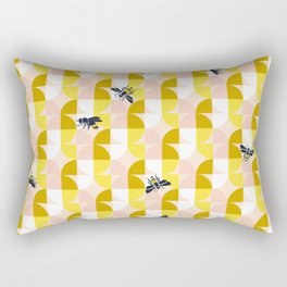 trouble in geometry with bees – soft colours Rectangular Pillow
