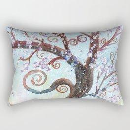 Watercolor Enchanted Tree Rectangular Pillow