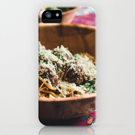 Meatballs And Cheese iPhone Case