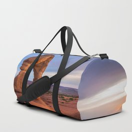 Golden Arch - Delicate Arch at Sunset in Utah Duffle Bag