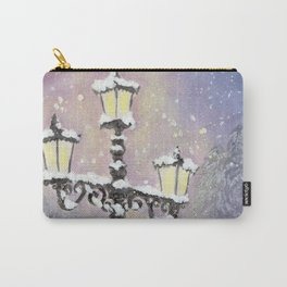 Lamp Post in Purple Carry-All Pouch