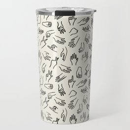 Mixed Signals Pattern in Oat Travel Mug