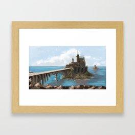 Castle Island Framed Art Print