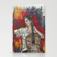 cello Stationery Cards featuring Cello 1 by Ed Rucker