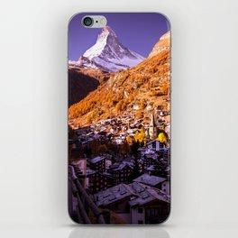 Mornings in Zermatt iPhone Skin