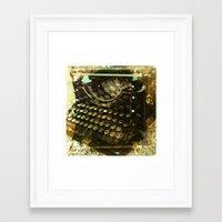 frank underwood Framed Art Prints featuring underwood by n8 bucher