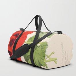 Pelargonium Edward Perkins Vintage Floral Scientific Illustration Duffle Bag
