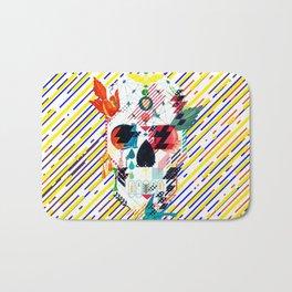 Abstract Skull Bath Mat