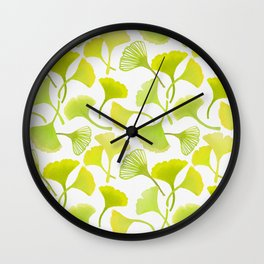 First Day of Autumn Ginkgo Leaves Wall Clock