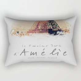 Amelie, minimalist movie poster, french film playbill, the fabulous life of Amélie Poulain, Rectangular Pillow