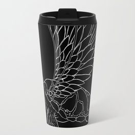 flying turtle black and white Travel Mug