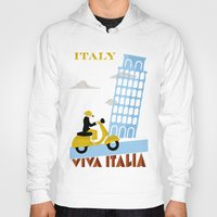 italy Hoodies featuring Italy by Laurel Natale