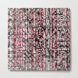 Linear Thinking Trip-Switch (P/D3 Glitch Collage Studies) Metal Print