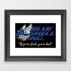 Mario Kart: Blue Shell Inc. Framed Art Print