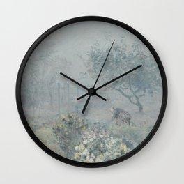 Alfred Sisley - Fog, Voisins (1874) Wall Clock