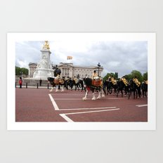 The Guards with their Horses 23 Art Print