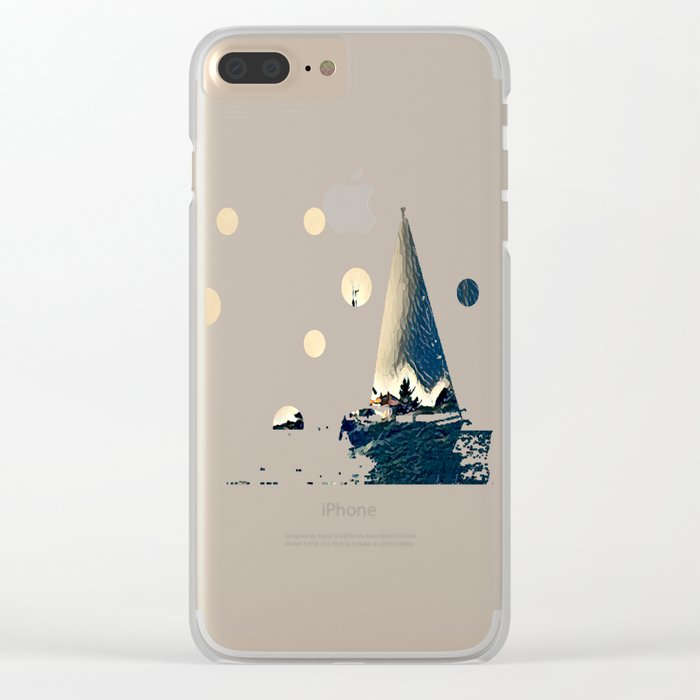 A Light In The Tempest Clear iPhone Case