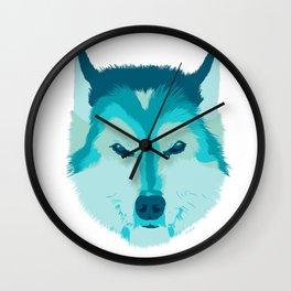 husky - wht Wall Clock