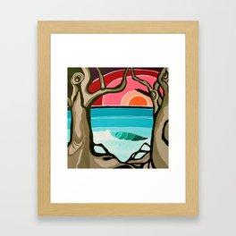 Lonely Lefts Surf Art by Lauren Tannehill Art Framed Art Print