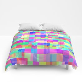 Overlapping Tetris  Comforters