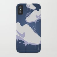 nike iPhone & iPod Cases featuring Nike Drips by Patrick Cazer