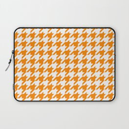 Orange: Houndstooth Checkered Pattern Laptop Sleeve