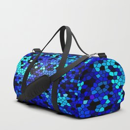 STAINED GLASS BLUES Duffle Bag