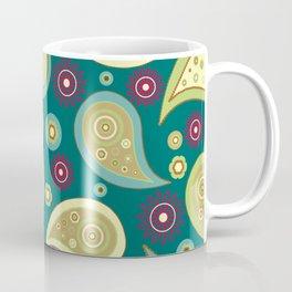 Oriental Persian Paisley, Flowers - Blue Green Coffee Mug