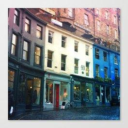Streets of Edinburgh Canvas Print
