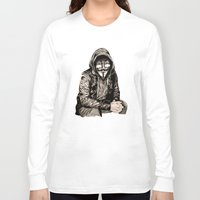 gangster Long Sleeve T-shirts featuring Anonymous Gangster by 13 Styx