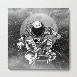 Astronaut Skater Metal Print