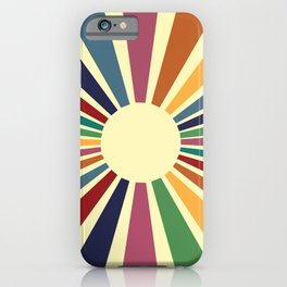 Sun Retro Art II iPhone Case