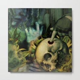 Trepanation (Skull) Metal Print