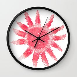 Starfish - Red Palette Wall Clock
