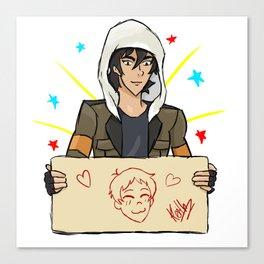 Klance, Keith draws Lance Canvas Print