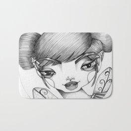 JennyMannoArt Graphite Illustration/Tessa Bath Mat