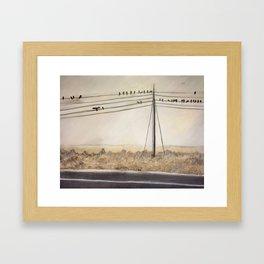 Birdie Meeting Framed Art Print