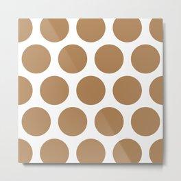 Large Polka Dots: Ginger Metal Print