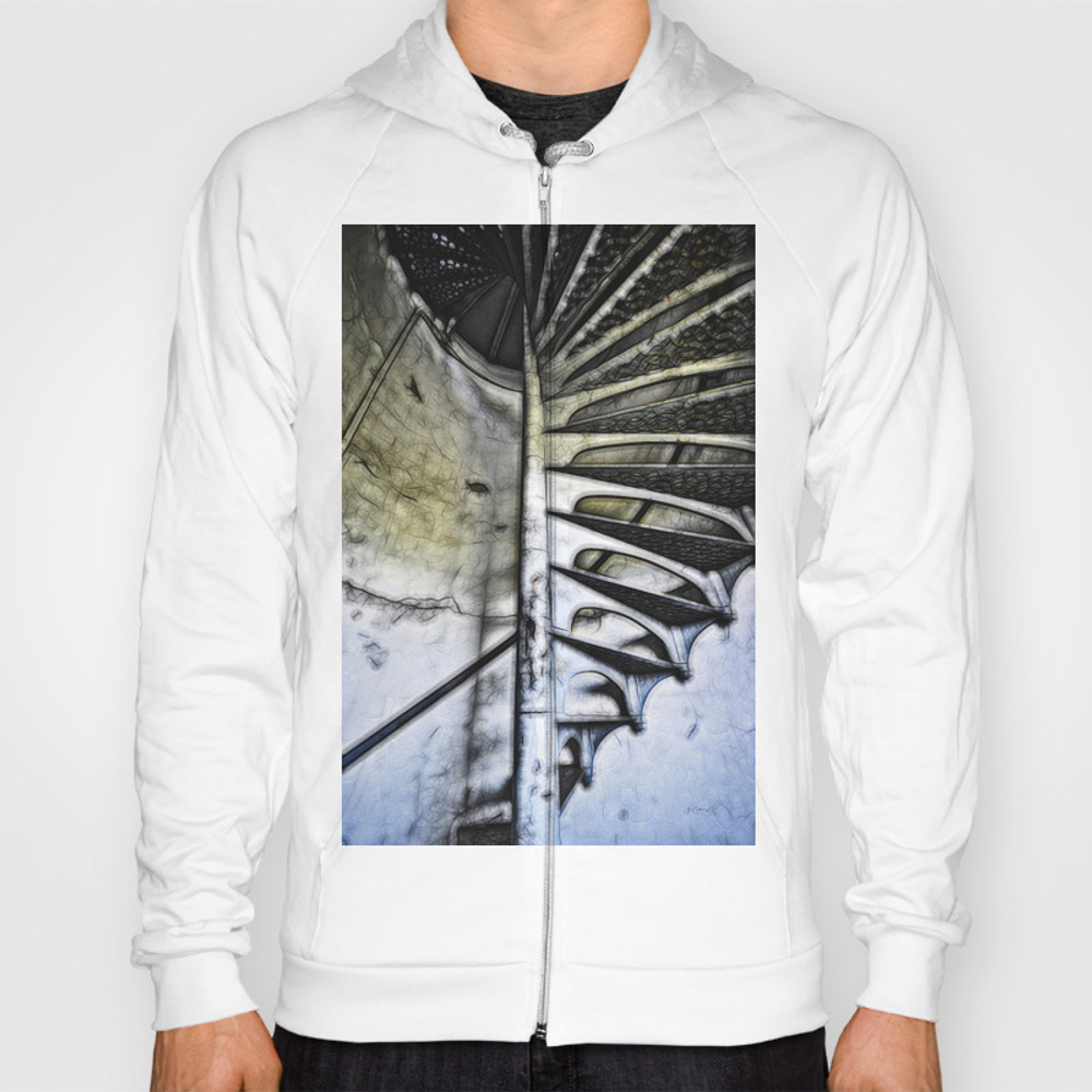 Lighthouse Tower Stairs Hoody by Michigangallery SSR9053552