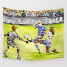 Ledley King tackles Robben Wall Tapestry