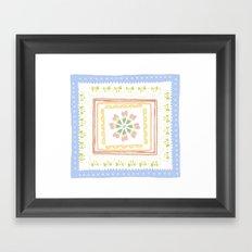 Vintage Handkerchief Pattern Framed Art Print