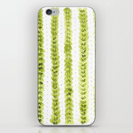 Leaf Pattern in Watercolour iPhone Skin
