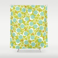 candy Shower Curtains featuring candy by ottomanbrim