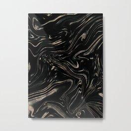 Liquid Gold Glitter Marble #1 (Faux Glitter) #decor #art #society6 Metal Print