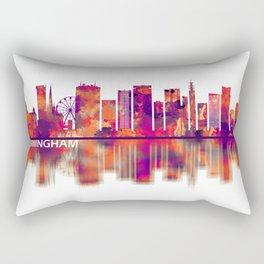 Birmingham England Skyline Rectangular Pillow