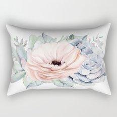 Pastel Succulents by Nature Magick Rectangular Pillow