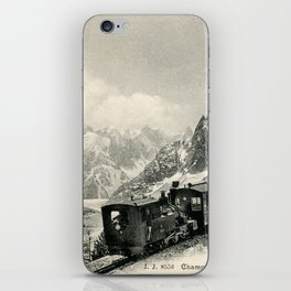 Antique train rack railway near Mont Blanc French Alps iPhone Skin